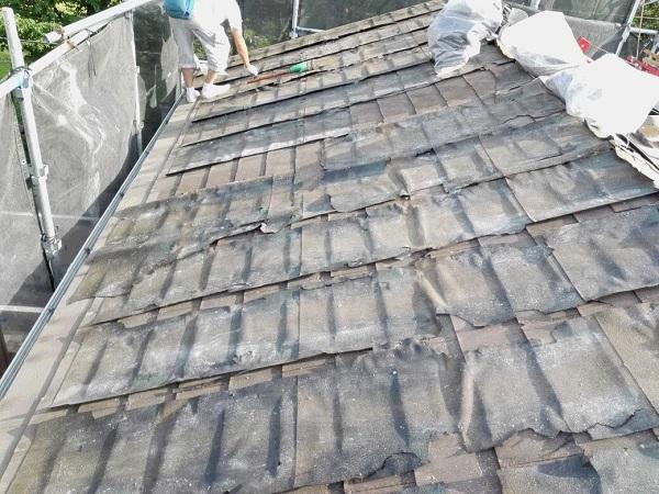 東京都足立区 M様邸 屋根葺き替え工事 既存屋根材撤去 近隣への配慮について (2)