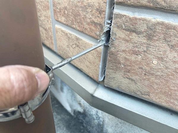 東京都新宿区 M様邸 基礎補修 シーリング工事 施工前の状態 無料現場調査 (8)