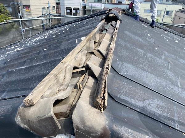 東京都足立区 M様邸 屋根葺き替え工事 既存屋根材撤去 近隣への配慮について (10)