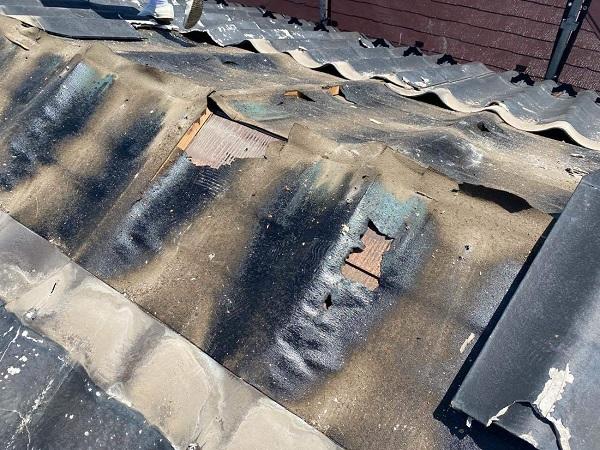 東京都足立区 M様邸 屋根葺き替え工事 既存屋根材撤去 近隣への配慮について (11)