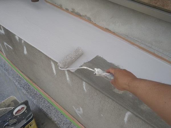 東京都新宿区 M様邸 基礎補修 シーリング工事 基礎塗装 (8)