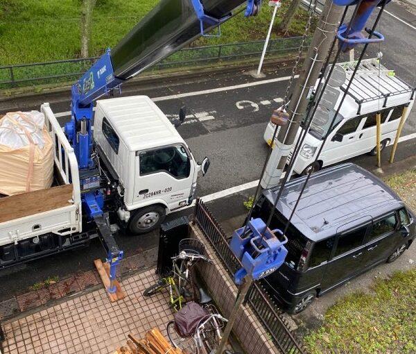 東京都足立区 M様邸 屋根葺き替え工事 既存屋根材撤去 近隣への配慮について (7)