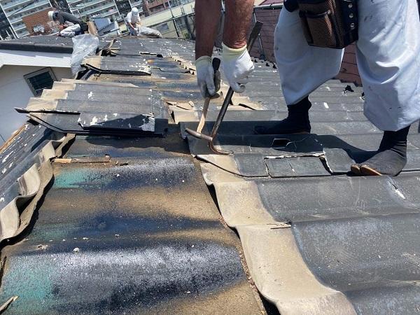 東京都足立区 M様邸 屋根葺き替え工事 既存屋根材撤去 近隣への配慮について (8)