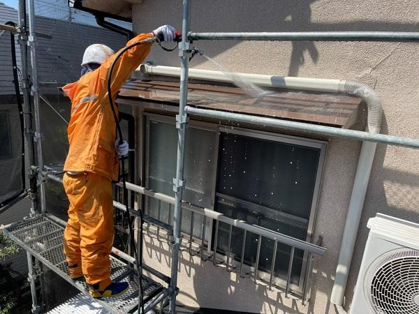 東京都世田谷区 K様邸 屋根塗装・付帯部塗装・劣化補修 下地処理 高圧洗浄 (1)