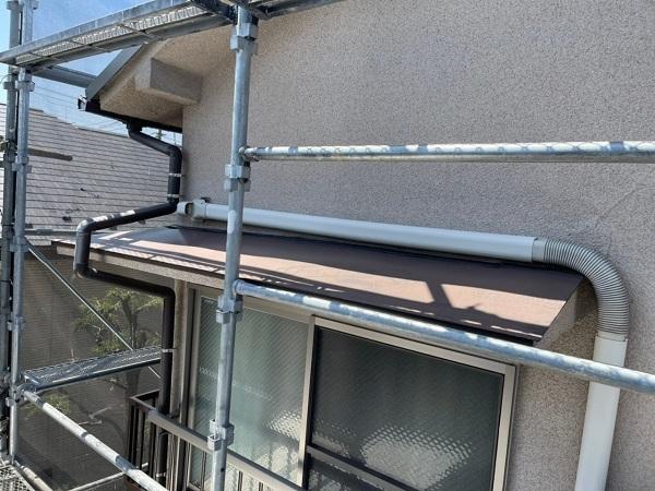 東京都世田谷区 K様邸 屋根塗装・付帯部塗装・劣化補修 霧除け庇塗装 付帯部とは (12)