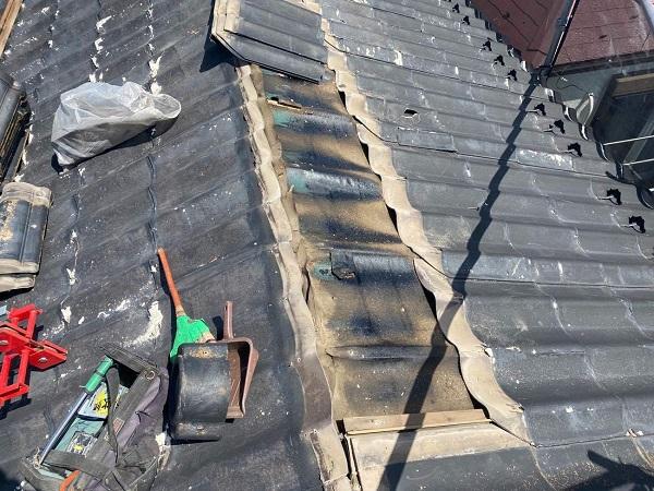 東京都足立区 M様邸 屋根葺き替え工事 既存屋根材撤去 近隣への配慮について (9)
