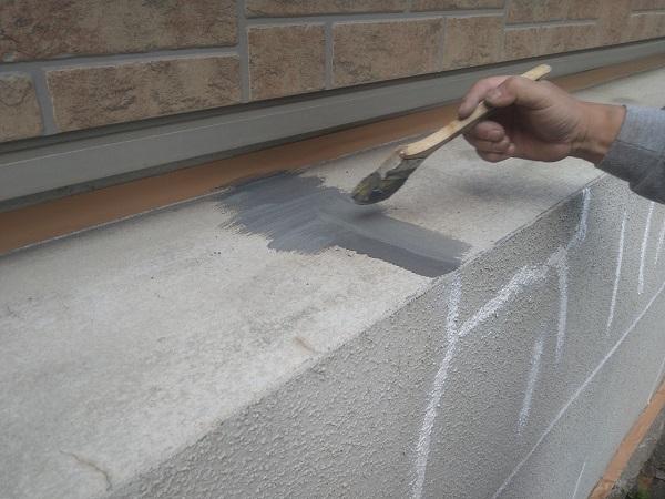 東京都新宿区 M様邸 基礎補修 シーリング工事 ひび割れ(クラック)の補修 シーリングによる補修 (4)