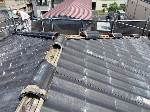 東京都足立区 M様邸 屋根葺き替え工事 既存屋根材撤去 近隣への配慮について (3)