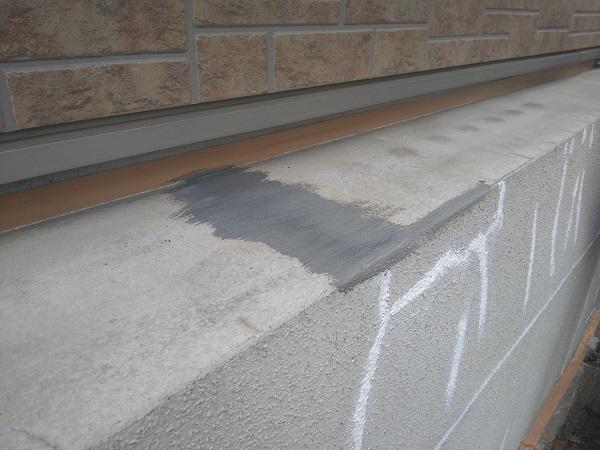 東京都新宿区 M様邸 基礎補修 シーリング工事 ひび割れ(クラック)の補修 シーリングによる補修 (1)
