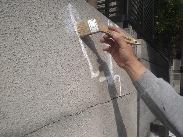 東京都新宿区 M様邸 基礎補修 シーリング工事 ひび割れ(クラック)の補修 シーリングによる補修 (11)