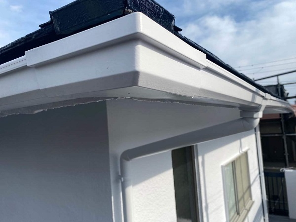 東京都世田谷区 T2様邸 屋根塗装・外壁塗装・防水工事 雨樋塗装 付帯部の色 (2)