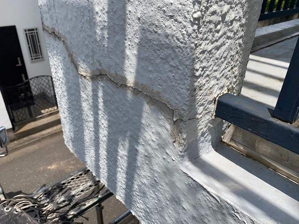 東京都世田谷区 T2様邸 屋根塗装・外壁塗装・防水工事 施工前の状態① 外壁2 (1)