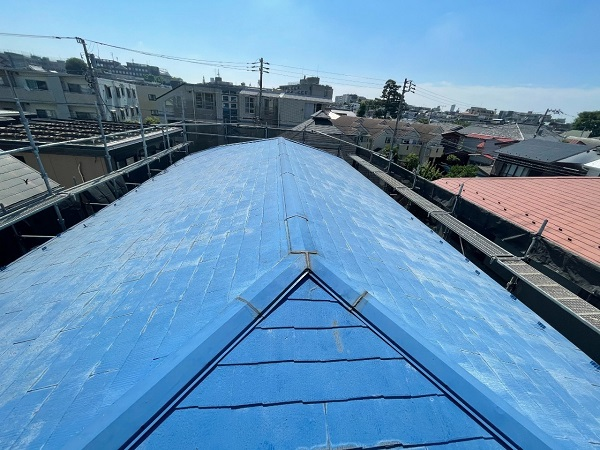 東京都世田谷区 T2様邸 屋根塗装・外壁塗装・防水工事 施工前の状態② 屋根2 (3)