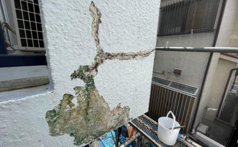 東京都世田谷区 T2様邸 屋根塗装・外壁塗装・防水工事 施工前の状態① 外壁1 (1)