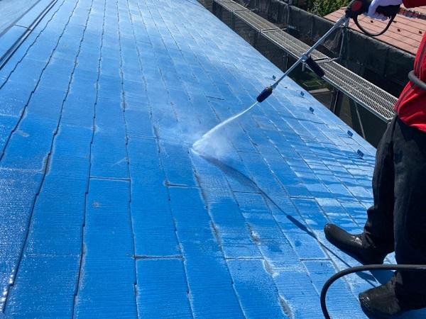 東京都世田谷区 T2様邸 屋根塗装・外壁塗装・防水工事 下地処理 高圧洗浄 (4)