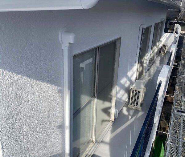 東京都世田谷区 T2様邸 屋根塗装・外壁塗装・防水工事 雨樋塗装 付帯部の色 (1)