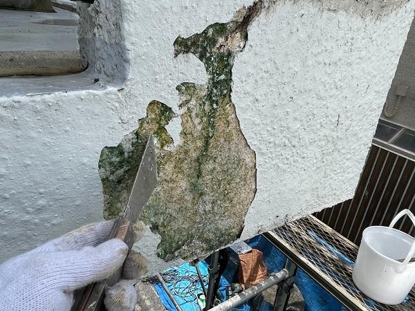 東京都世田谷区 T2様邸 屋根塗装・外壁塗装・防水工事 ひび割れ(クラック補修) (14)