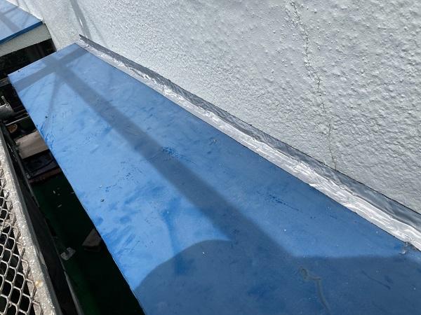 東京都世田谷区 T2様邸 屋根塗装・外壁塗装・防水工事 養生 シーリング工事 (1)
