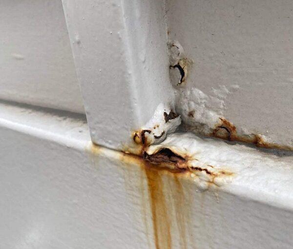 東京都大田区 アパート 屋根塗装・外壁塗装 施工前の状態 (4)