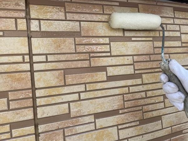 東京都大田区 アパート 屋根塗装・外壁塗装・付帯部塗装 養生  ピュアライドUVプロテクトクリヤー 日本ペイント (4)