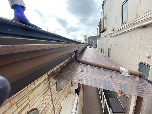 東京都大田区 アパート 屋根塗装・外壁塗装 施工前の状態 (11)