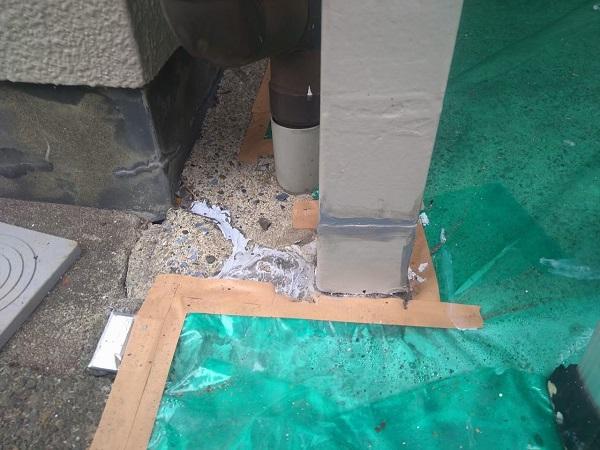 東京都大田区 アパート 屋根塗装・外壁塗装・付帯部塗装 ガス管カバー塗装 鉄骨柱塗装 (10)