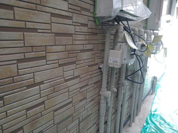 東京都大田区 アパート 屋根塗装・外壁塗装・付帯部塗装 ガス管カバー塗装 鉄骨柱塗装 (13)