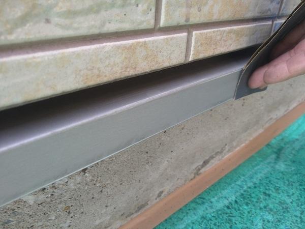 東京都大田区 アパート 屋根塗装・外壁塗装・付帯部塗装 水切り塗装、エアコンホースカバー塗装 (10)