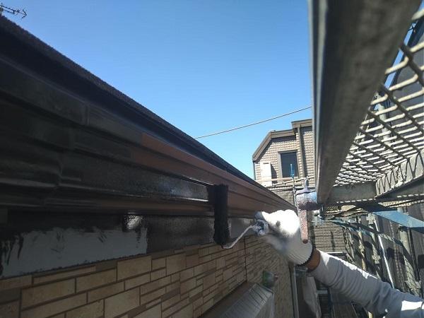 東京都大田区 アパート 屋根塗装・外壁塗装・付帯部塗装 鼻隠し塗装 雨樋塗装 (21)