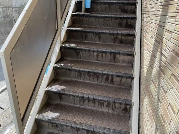 東京都大田区 アパート 屋根塗装・外壁塗装 下地処理 高圧洗浄 (6)