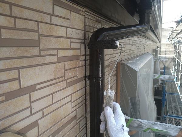 東京都大田区 アパート 屋根塗装・外壁塗装・付帯部塗装 鼻隠し塗装 雨樋塗装 (4)