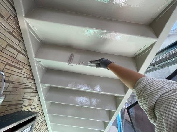 東京都大田区 アパート 屋根塗装・外壁塗装・付帯部塗装 鉄骨階段補修 (18)