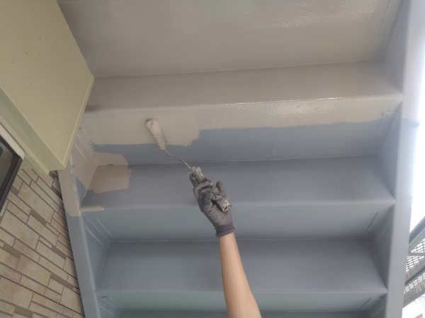 東京都大田区 アパート 屋根塗装・外壁塗装・付帯部塗装 鉄骨階段補修 1 (1)