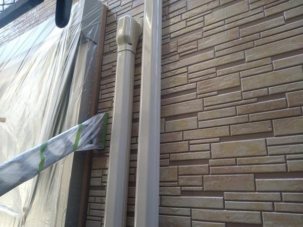 東京都大田区 アパート 屋根塗装・外壁塗装・付帯部塗装 水切り塗装、エアコンホースカバー塗装 (14)