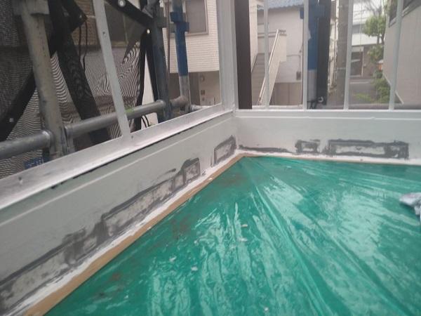 東京都大田区 アパート 屋根塗装・外壁塗装・付帯部塗装 鉄骨階段補修 (9)