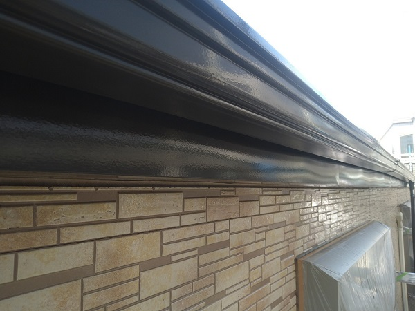 東京都大田区 アパート 屋根塗装・外壁塗装・付帯部塗装 鼻隠し塗装 雨樋塗装 (10)