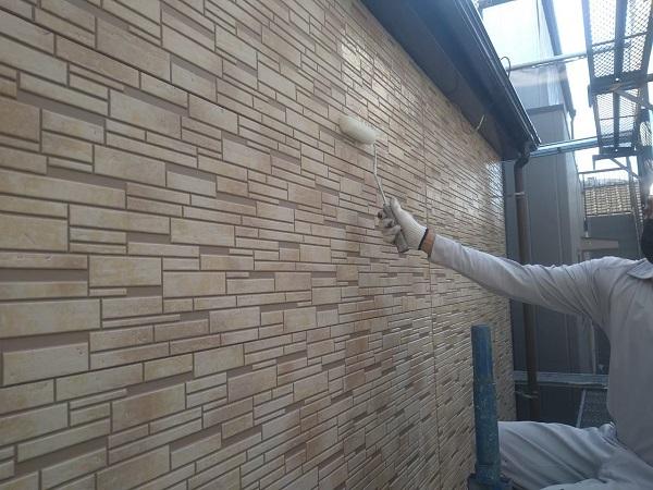東京都大田区 アパート 屋根塗装・外壁塗装・付帯部塗装 養生  ピュアライドUVプロテクトクリヤー 日本ペイント (3)