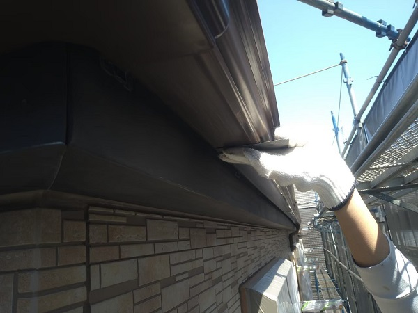 東京都大田区 アパート 屋根塗装・外壁塗装・付帯部塗装 鼻隠し塗装 雨樋塗装 (31)