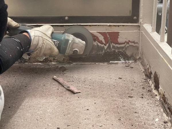 東京都大田区 アパート 屋根塗装・外壁塗装・付帯部塗装 鉄骨階段補修 (8)