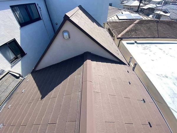 東京都北区 N様邸 雨漏り補修・屋根重ね葺き工事・外壁塗装 屋根の構造 ルーフィング (1)