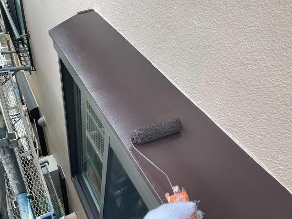 東京都北区 N様邸 雨漏り補修・屋根重ね葺き工事・外壁塗装 出窓の屋根塗装 劣化しやすい理由 (1)
