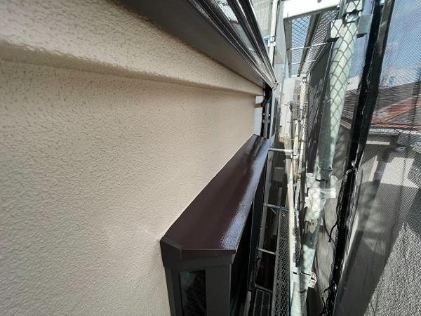 東京都北区 N様邸 雨漏り補修・屋根重ね葺き工事・外壁塗装 出窓の屋根塗装 劣化しやすい理由 (5)