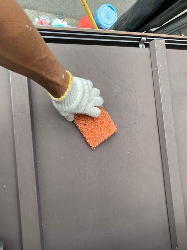 東京都北区 N様邸 雨漏り補修・屋根重ね葺き工事・外壁塗装 下屋の塗装 トタン (6)