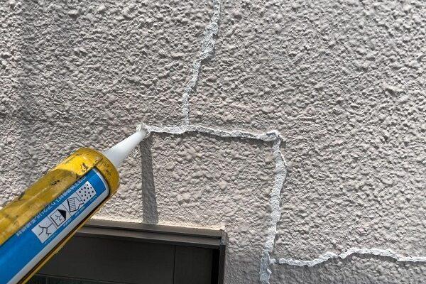 東京都杉並区 N様邸 屋根塗装・外壁塗装 ひび割れ(クラック)補修 シャープ化学工業スキマフィル (2)