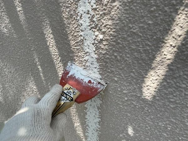 東京都杉並区 N様邸 屋根塗装・外壁塗装 ひび割れ(クラック)補修 シャープ化学工業スキマフィル (1)