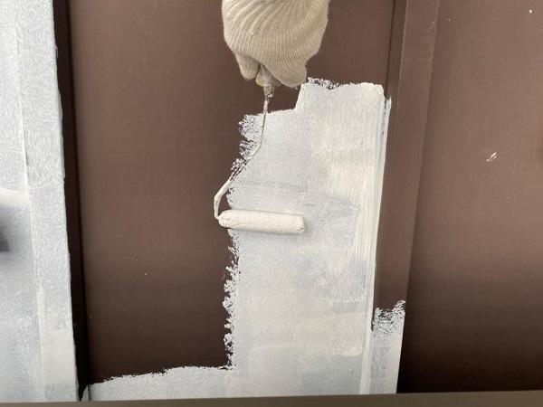東京都北区 N様邸 雨漏り補修・屋根重ね葺き工事・外壁塗装 下屋の塗装 トタン (5)
