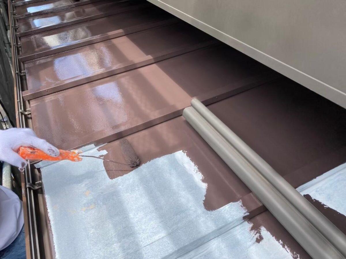 東京都北区 N様邸 雨漏り補修・屋根重ね葺き工事・外壁塗装 下屋の塗装 トタン (4)